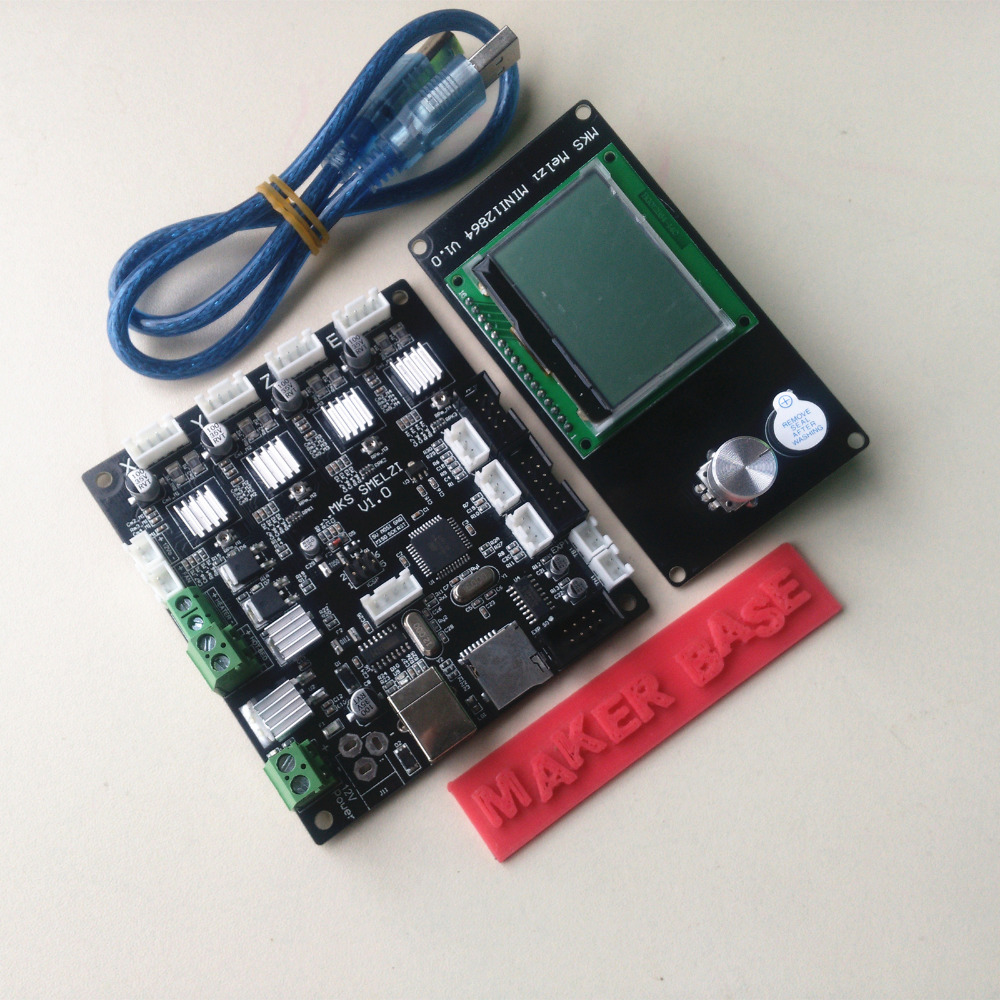 все цены на  3D Printer MKS SMelzi Motherboard +MKS Melzi MINI12864 LCD Display Screen Module DIY 3D Print Kit For Prusa i3XYZ  онлайн