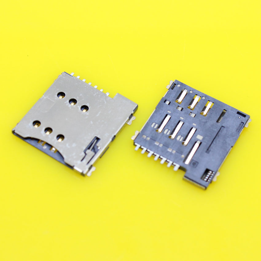 Cltgxdd KA-285     Real High Quality 7pin Push Micro Sim Card Socket Holder Slot Replacement Connector