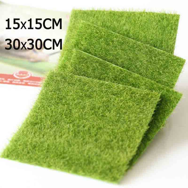 30x30cm Artificial Miniature Garden Ornament DIY Craft  Articial Lawn Grass For Wedding Xmas Party Decoration