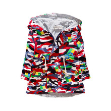 Baby Boys Bomber Jackets Camouflage Spring Fall Coat Children Outerwear Clothes Kids Cotton Warm Hoodies Jacket Clothing Q2035