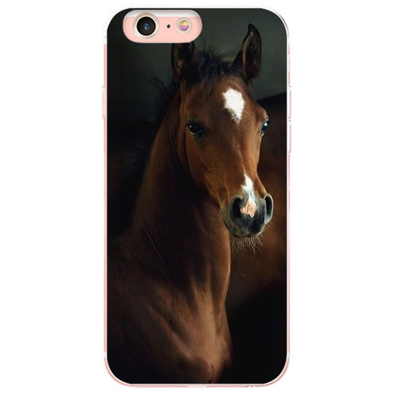 Horse Series Coque Shell Phone Iphone 8 7 6 6S Plus 5 5S SE X XS XR XSMAX Coque Shell