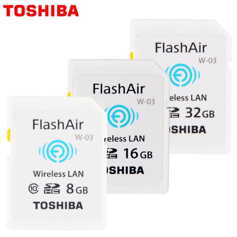 Toshiba 100% Original WIFI SD Card Shared Memory SD Card 32GB Class 10 SDHC Flash Memory WIFI SD Card cartao de memoria 8GB 16G карта памяти other 2 ez wlan sd 10 wifi sd 8 wifi 8gb