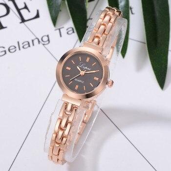 Women's Watches Rose Gold Disc Fashion Women Wristwatch Luxury Ladies Stainless Steel Strap Business Clock Relogio FemininoB50