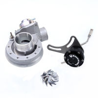 Kinugawa Turbo Compressor Kit w/ BOV & 0.8Bar Adjustable Actuator for Mitsubishi TD04 TD04H TD04HL 19T