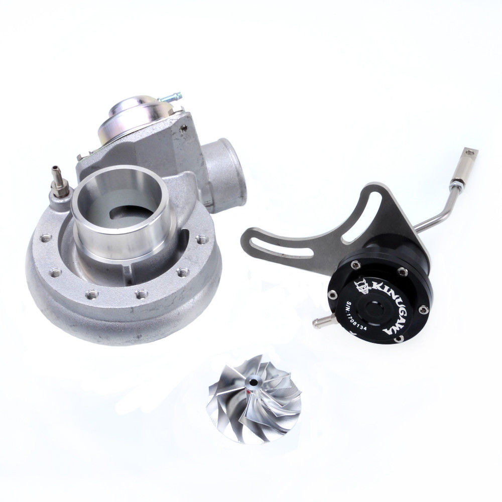 Kinugawa Turbo Compressore Kit w/BOV & 0.8Bar Regolabile TD04H Attuatore per Mitsubishi TD04 TD04HL 19 T