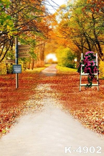 Romantische Herfst Scenic Vinyl Achtergronden Voor