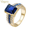 VOGEM Gold 585 Fashion Couple Rings for Men and Women Gold Plated Forever Love Promise Ring Engagement Ring Valentines Day Gift