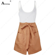 Aimsnug Khaki Criss-Cross Slim Camis Fitted Crop Tank Top And shorts Set Summer Solid Skinny Sleeveless Women Two Piece Outfits все цены