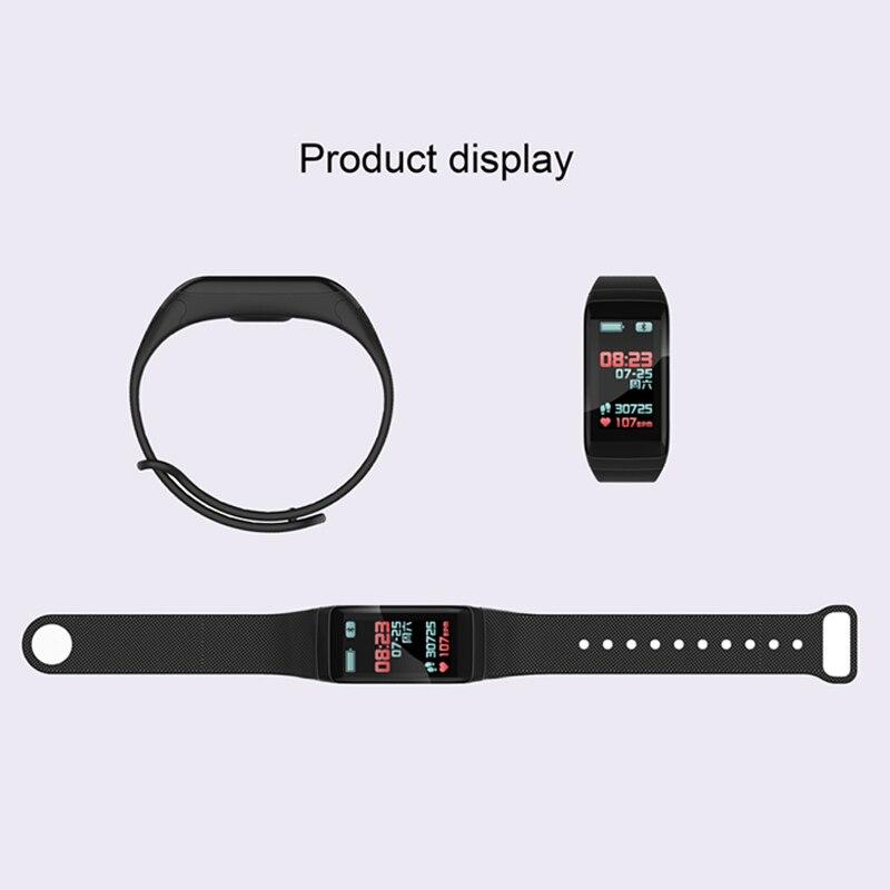 Image 5 - NAIKU F1Plus умный браслет Цвет экран приборы для измерения артериального давления фитнес трекер сердечного ритма мониторы Смарт фитнес браслет-in Смарт-браслеты from Бытовая электроника