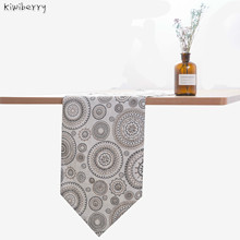 Modern Table Runner Satin Flannel Mandala Marriage Runners Mat For Wedding Chirstmas Decoration Chemin De