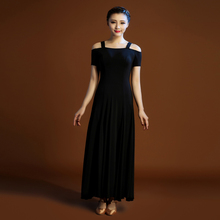 2016 new arrival Modern dance skirt one-piece dress expansion bottom dance clothes dance women ballroom tango dress