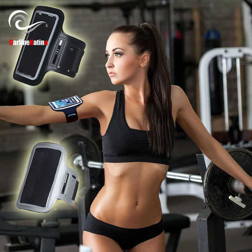 Szary wodoodporna opaski na ramię, siłownia, bieganie, dla Xiao mi mi a1 6X mi x 2 s czerwony mi s2 5 plus uwaga 5 4x 5a opaska na ramię 2 3 torba na telefon skrzynki pokrywa