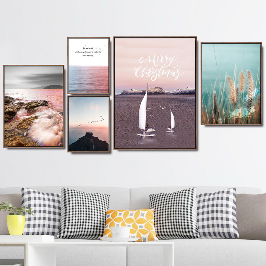 Cuadros De Dormitorio Us 5 1 15 Off Home Wall Pictures For Living Room Canvas Art Poster Oil Unframed Drawings Cuadros Decoracion Dormitorio Natural Scenery Sunset In