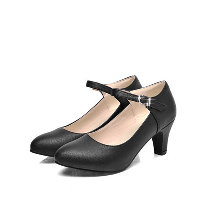 Compare Prices on Black Medium Heel Shoes- Online Shopping/Buy Low ...