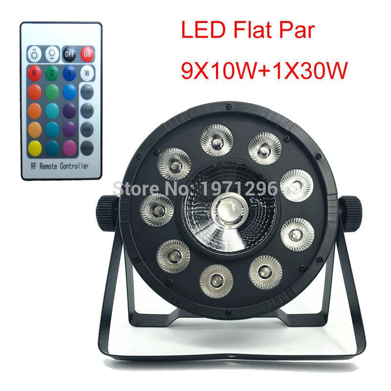 DMX Sound Par Wireless Remote Control LED Flat Par 9X10W+1X30W 3in1 LED Par Light  RGB Tri LED Lamp Stage Wash Lighting кофточка quelle laura scott 490693