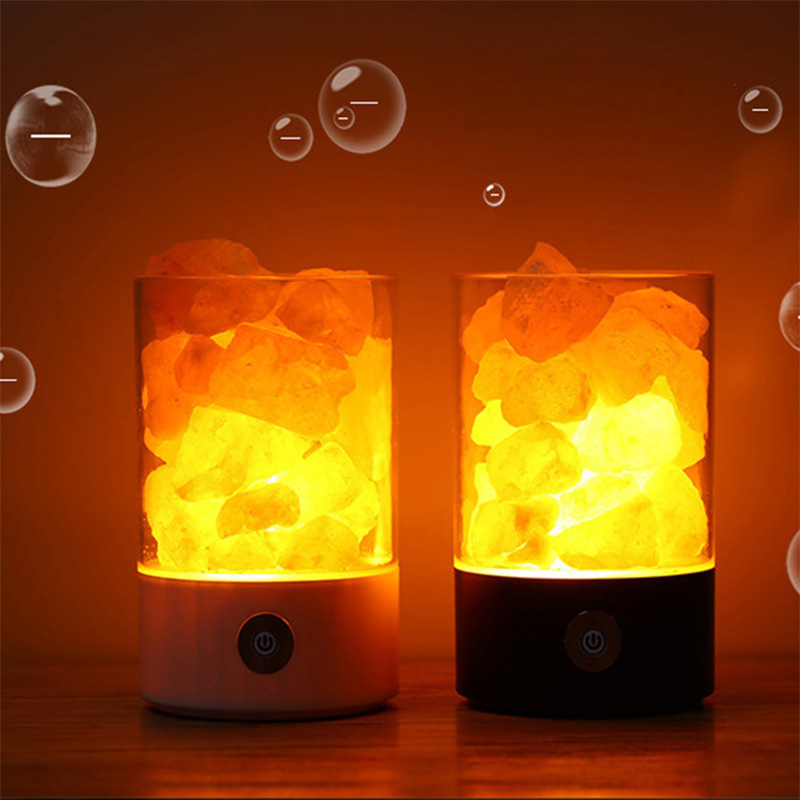 Natural himalayan salt lamp led Lamp Air Purifier Mood Creator Indoor warm light table lamp bedroom lava light USB Crystal Lamp