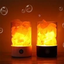 все цены на Natural himalayan salt lamp led Lamp Air Purifier Mood Creator Indoor warm light table lamp bedroom lava light USB Crystal Lamp онлайн