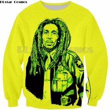 PLstar Cosmos Homme Casual Bob Marley 3D Printed hip hop style tops Man women Sweatshirt fashion hoodies Plus size S-5XL