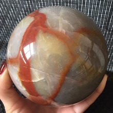 110mm Natural Agate Sphere Polished Gemstone Ball Healing Natural stones and minerals