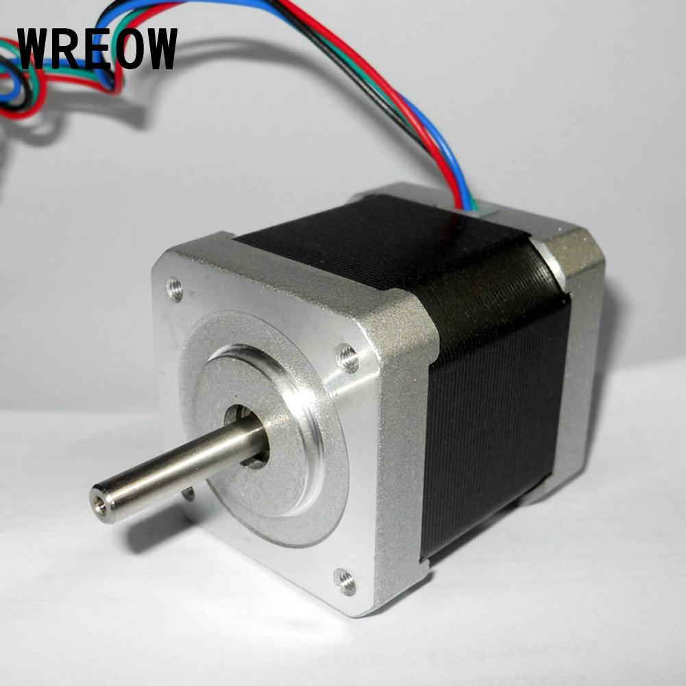 For 3D Printer NEMA17 Hybrid Stepper Motor 42mm 2 Phase 1.8 Degree 4-wire Or CNC Fit For JK42HS40-1704 Metal Engine Stage Light