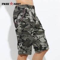 Free Army Brand Fashion Camouflage Shorts Masculino Cotton Regular Mens Sport Running Surf Gym Beach Basketball