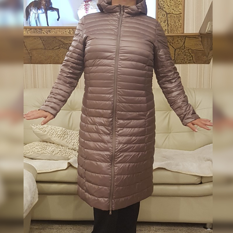 Down     Coat   Female Jaket Women's Jacket Winter Jackets For Women Long Warm Blown Lightweight   Down     Coat   Female Large