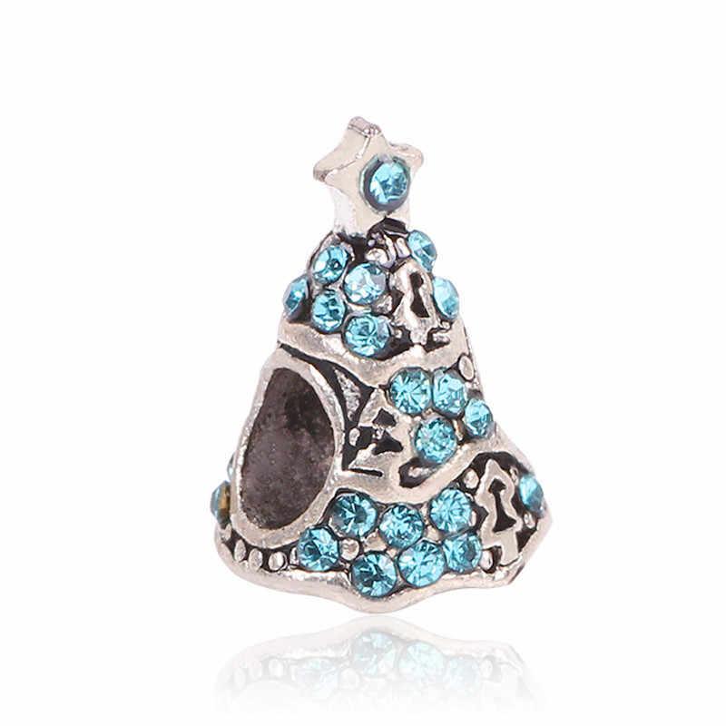 AIFEILI naszyjnik osobowość koralik DIY nadaje się do bransoletka pandora kobiety biżuteria europejski urok choinki kolor