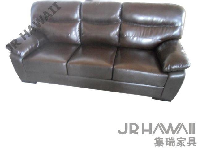 Brown Leather Sofa French Style Living Room Sofa Hot Selling