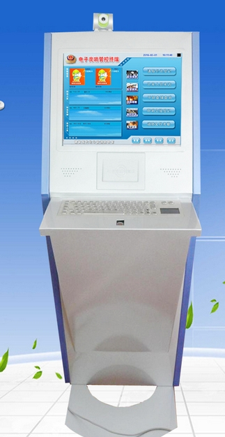 LCD Tft Hd Security Monitor Face And Fingerprint Recognition Electronic Police Watch Vehicle Access Kiosk Signage