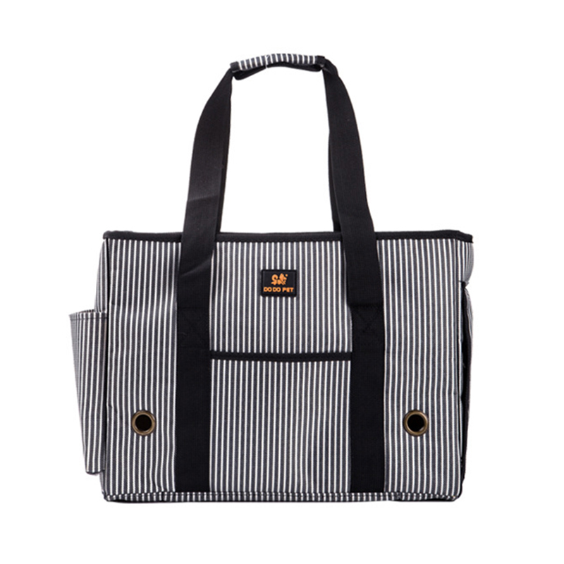 Dog Carrier Striped Oxford Outdoor Pet Carrier Bags Small Dogs Travel Bag Pet Dog Tote Poodle Cat Bag Mesh Windows S M L