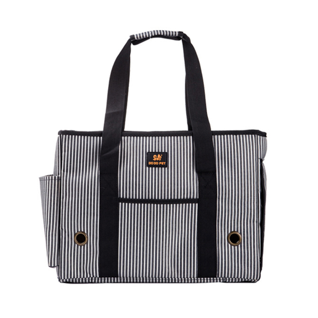 Dog Carrier Striped Oxford Outdoor Pet Bags Small Dogs Travel Bag Tote Poodle