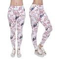 2016 Engraçado New Geométrica Flamingo Aves Impresso Leggings Mulheres Menina Casual 3D Luz Rosa Leggings Pant Leggin Feminino