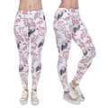 2016 Funny New Geometric Flamingo Birds Printed Leggings Women Girl Casual 3D Light Pink Leggings Pant Leggin Female