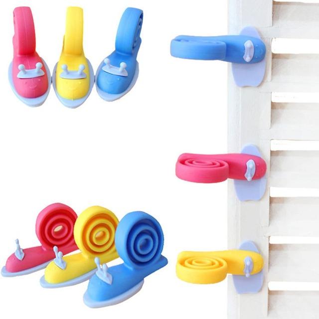 Safety Doorways New 3pcs Cute Cartoon Snail Silicone Wedge Doorstops Stopper Children Baby Safety Protector Doorway Gates