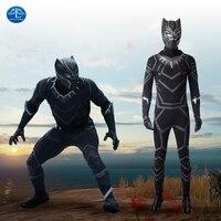 Black Panther Cosplay Costume Men Carnival Halloween Costume For Adult Costume Black Suit Superhero Custom Made