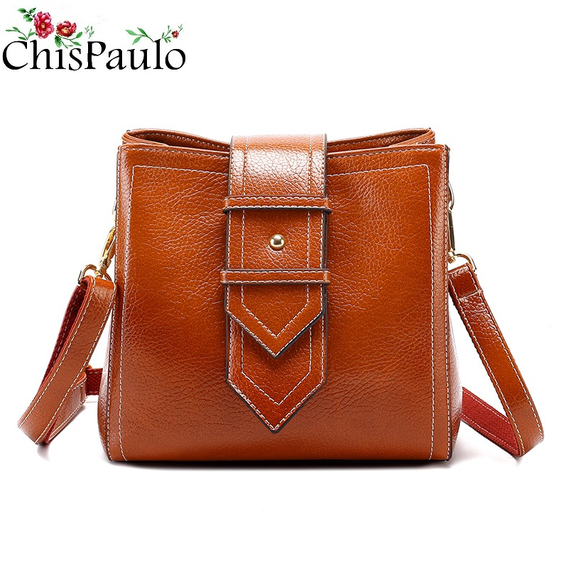 Cowhide Genuine Leather Bags For Women 2018 Luxury Brand Handbags Women Bags Designer Vintage Messenger Bags Casual Shoulder T18 ly shark crocodile cowhide leather women messenger bags luxury handbags women bags designer crossbody bags women shoulder bag