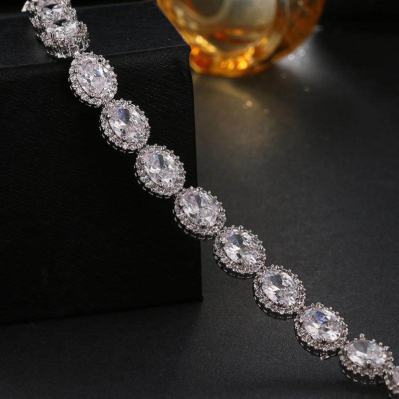 Emmaya vrhunske ovalne izvrstne cirkonove zapestnice Luksuzne - Modni nakit - Fotografija 3