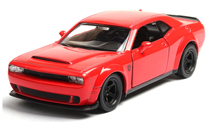 Image 2 - 1:36 Dodge Challenger SRT Demon Sports Car Alloy Diecast Car Model Toy With Pull Back For Children Gifts Toy Collection