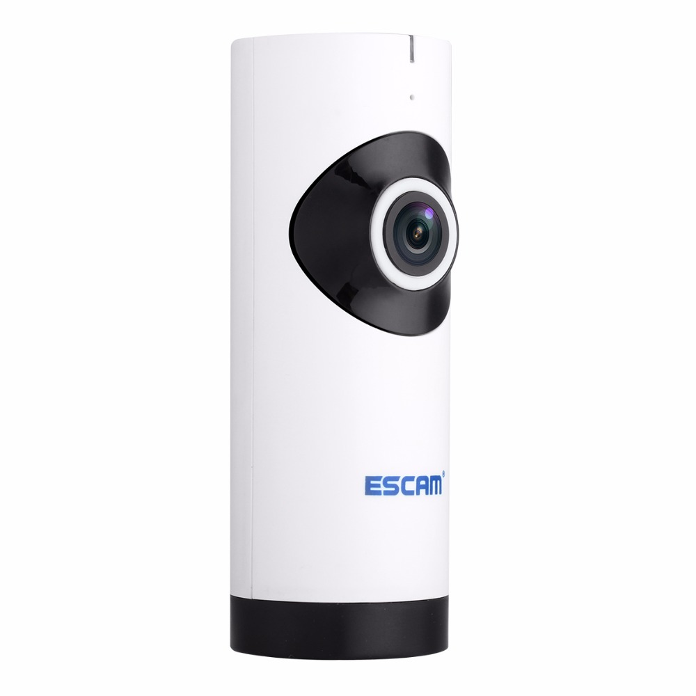 Escam Moai QP110 Mini WiFi IP Camera HD 720P CCTV security Camera System P2P IR Two Way Audio Micro SD Card Slot Night vision escam g02 hd 720p mini wifi ip camera wifi cctv security surveillance cameras p2p video camcorder ir cut two audio night vision