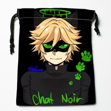 New Custom Chat Noir  Bags Custom drawstring bags Printed gift bags 27x35cm Compression Type Bags