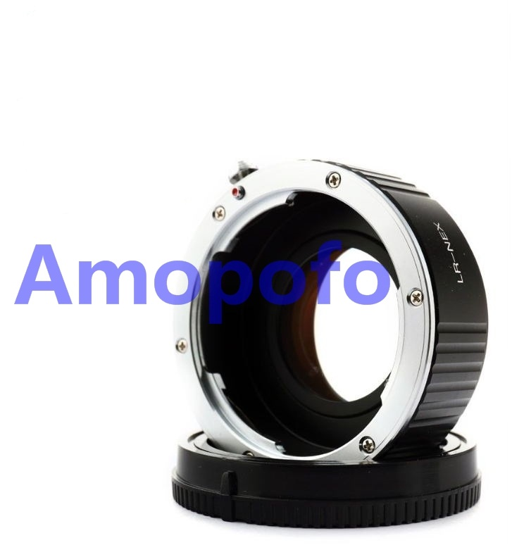 Amopofo LR-NEX Focal Reducer Speed Booster Adapter for Leica L/R mount Lens to for Sony NEX-VG900 NEX-VG30 NEX-EA50 FS700 lens adapter ring suit for hasselblad to sony nex for 5t 3n nex 6 5r f3 nex 7 vg900 vg30 ea50 fs700 a7 a7s a7r a7ii a5100 a6000
