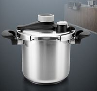 Pressure Cooker Kitchen Utensil INOX #304 High Quality Stainless Steel Stock Pot Cookware Stew Pot