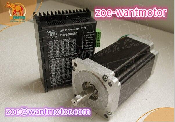 Cheap CNC !Wantai 1Axis Nema34 Stepper Motor 85BYGH450D 008 1090oz+Driver DQ860MA 80V 7.8A 256Micro