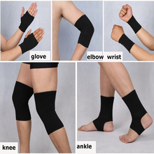 лучшая цена 1set Knee Support Elbow Protector Leg Arthritis Injury Gym Sleeve Elasticated Bandage Charcoal Knitted Ankle Warm Wrist Warm