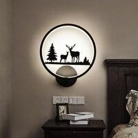 LED Wall Lamps AC85 265V Modern Simple Bedroom Bedside Light Indoor Kitchen Dining Room Corridor Wall