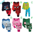 2016 New Boys Girls Kids Sleepwear Nightwear 2pcs Long Sleeve Tops+Pants Pyjamas Set 2-8Y kigurumi batman coverall pajamas