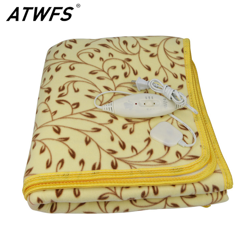 ATWFS High-grade Plush Heated Blanket Double Electric Blanket Waterproof Safety Thermostat Electric Heating Blanket 150 * 120cm electric blanket automatic protection type thickening single electric blanket body warmer the heated blanket electric mat carpet