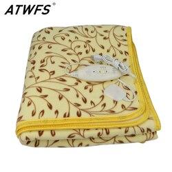 Atwfs высокомощный одеяло с подогревом двойное электрическое плюшевое одеяло водонепроницаемое безопасное электрическое термостат нагрева...