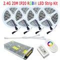 20 M DC12V RGBW Fita De Nastro LED RGB Bianco Caldo Bianco IP20 Non Impermeabile 15 M 10 M Pieno kit 2.4G RF RGBW Controller A Distanza di Alimentazione CA
