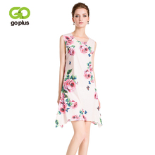 ФОТО goplus 2018 summer strap floral print mini dress women boho sleevless clothing party dress female beach elegant casual vestidos